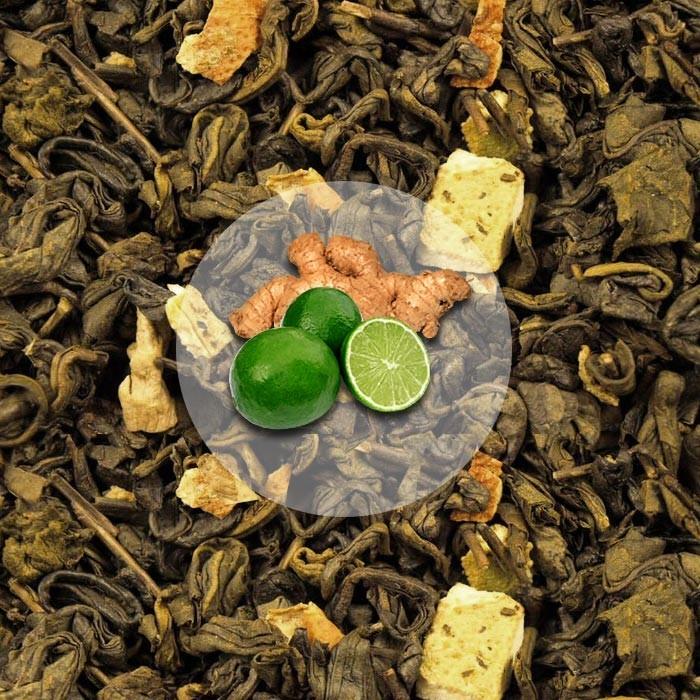 Herbata Zielona Imbir z Limonką