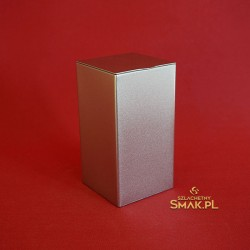 Puszka metalowa / bryła - srebrna