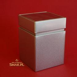 Puszka metalowa / monolit - srebrna