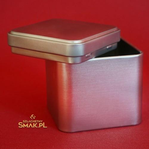 Puszka metalowa / kostka - srebrna